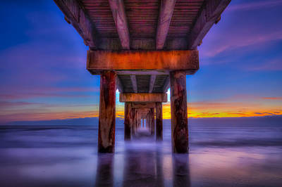 Daybreak At The Pier Print by Marvin Spates