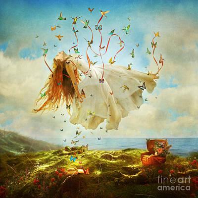 Floating Girl Photograph - Daydreams by Aimee Stewart