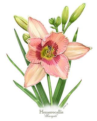 Daylily Painting - Daylily Svengali  by Artellus Artworks