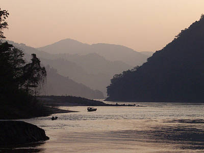 Day's End On The Mekong Original by Ken Lee