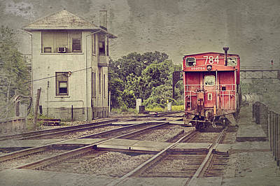 Caboose Digital Art - Days Gone By by Donald Schwartz
