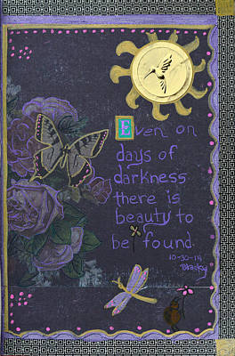 Beetle Mixed Media - Days Of Darkness by Donna Blackhall