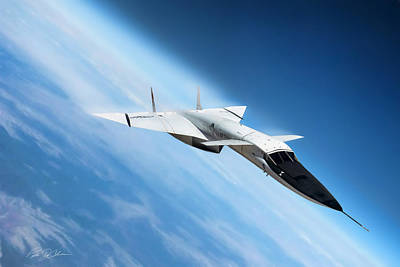 Prototype Digital Art - Days Of Future Passed Xb-70 by Peter Chilelli