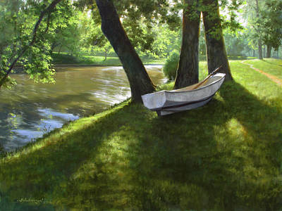 Dingy Painting - Days Of Summer by David Henderson