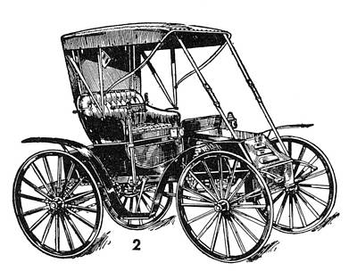 Antique Automobiles Drawing - Dayton Automobile, C1905 by Granger
