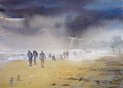 Watercolor Figure Painting - Daytona Storm by Kris Parins