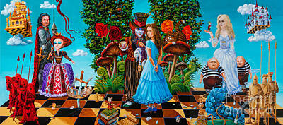 Mad Hatter Painting - Daze Of Alice by Igor Postash