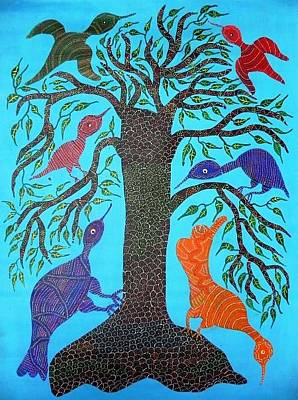 Gond Artist Painting - Dbb 023 by Dubu Bariya
