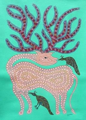 Gond Artist Painting - Dbb 031 by Dubu Bariya