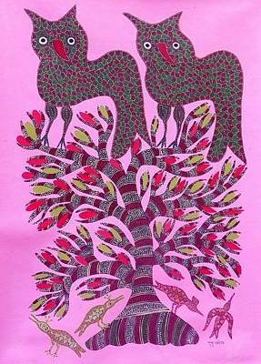 Gond Artist Painting - Dbb 033 by Dubu Bariya