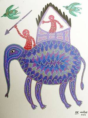 Gond Artist Painting - Dbb 05 by Dubu Bariya
