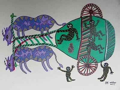 Gond Artist Painting - Dbb 09 by Dubu Bariya