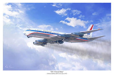 Dc 8 Friend Ship Print by Mark Karvon