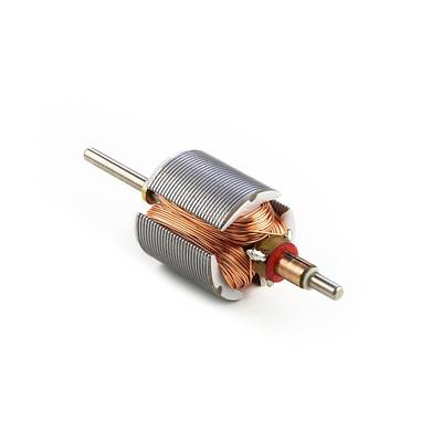 Dc Motor Armature Print by Science Photo Library