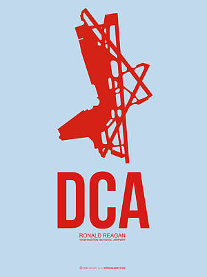 Washington Digital Art - Dca Washington Airport Poster 2 by Naxart Studio