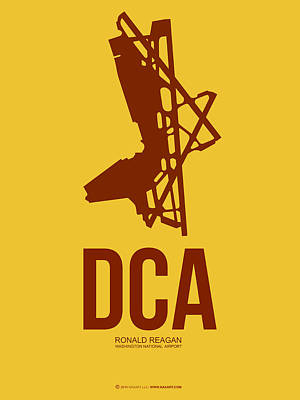 Washington D.c Digital Art - Dca Washington Airport Poster 3 by Naxart Studio