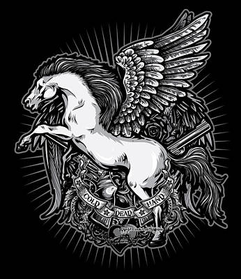 Pegasus Digital Art - Dcla Cold Dead Hand Pegasus by David Cook Los Angeles