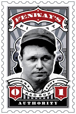 The Red Sox Digital Art - Dcla Jimmie Fox Fenway's Finest Stamp Art by David Cook Los Angeles