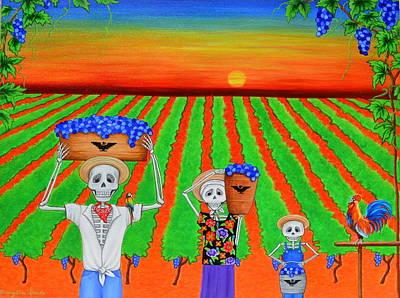 Cesar Chavez Painting - De Colores by Evangelina Portillo