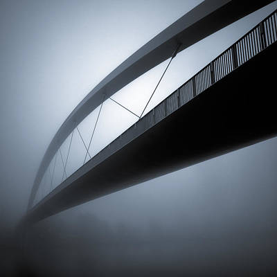 Semi Abstract Photograph - De Hoge Brug by Dave Bowman