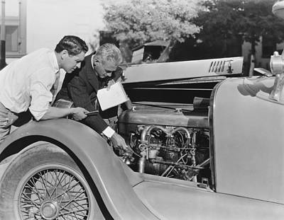 Ability Photograph - De Palma Gives Race Car Tips by Underwood Archives