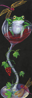 De-wine Intervention Print by Debbie McCulley