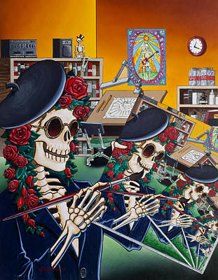 Rock And Roll Painting - Dead Artist Society by Gary Kroman