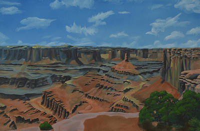 Pinion Painting - Dead Horse Point by Nick Froyd