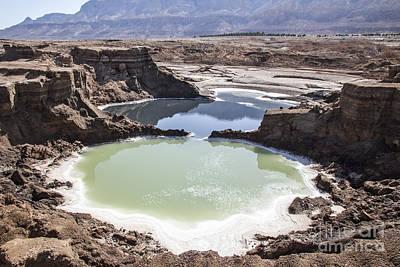 Dead Sea Sinkholes  Print by Eyal Bartov