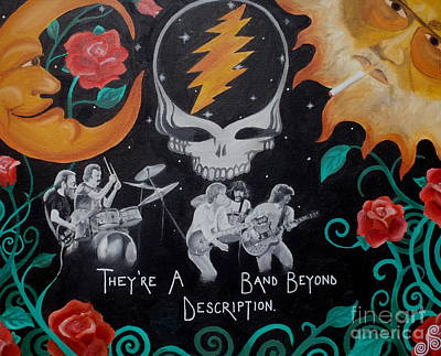Jerry Garcia Band Painting - Deadication. by Jen Santa