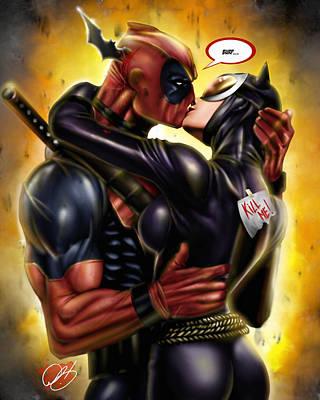 Dc Comics Drawing - Deadpool Win by Pete Tapang