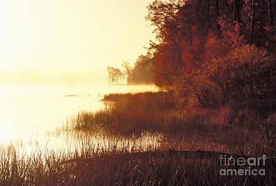 Indiana Landscapes Photograph - Deam Lake Sunrise - Fs000480a by Daniel Dempster