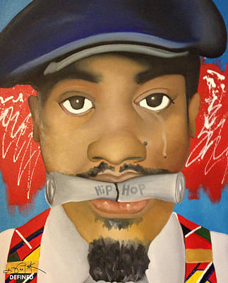 Rapper Painting - Dear Hip Hop by Chelsea VanHook