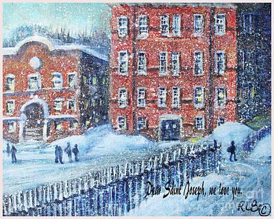 Waltham Painting - Dear Saint Joseph by Rita Brown
