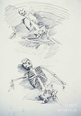 Whistler Drawing - Death And Angel Of Death by Whistler Kenworthy