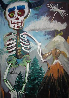 Death And Doll Print by Saskia Ahlbrecht