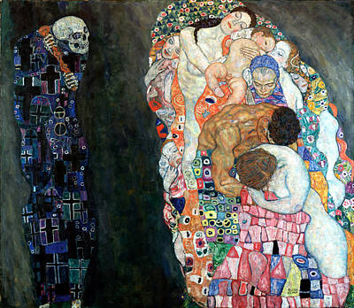 Death And Life Print by Gustive Klimt
