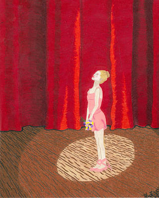 Stage Lights Drawing - Death Of A Ballerina Part1 by Heather Edgar