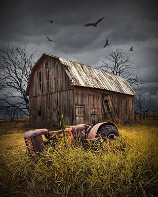 Death Of A Small Midwest Farm Original by Randall Nyhof