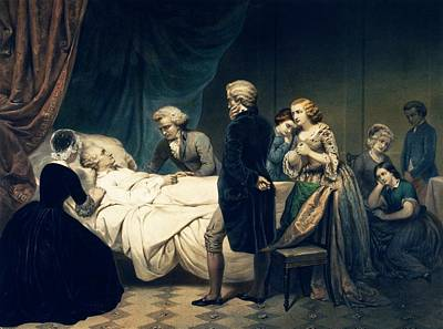 Death Of George Washington Print by Library Of Congress
