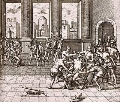 Death Of Inca Ruler Atahualpa, 1533 Print by British Library