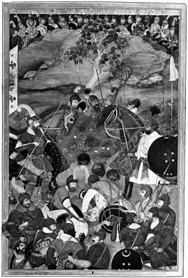 Beheading Painting - Death Of Khan Jahan Lodi by Granger