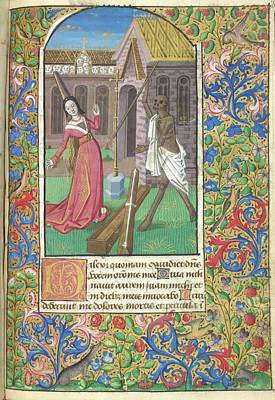 Jacques Photograph - Death Overcoming A Lady by British Library