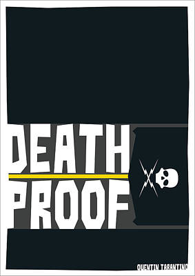 Death Proof Digital Art - Death Proof Poster by Geraldinez