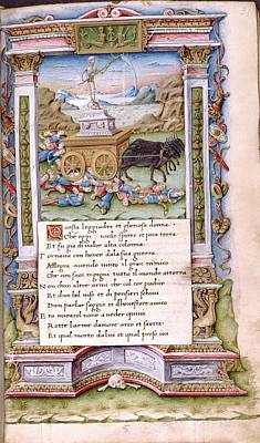 Horse And Cart Photograph - Death by Renaissance And Medieval Manuscripts Collection/new York Public Library