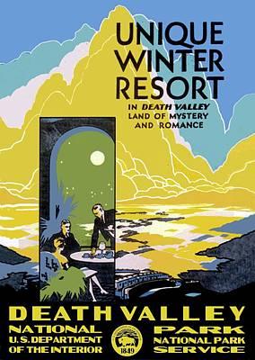 Death Valley National Park Vintage Poster Print by Eric Glaser