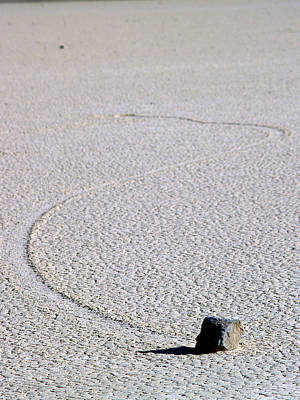 Dry Lake Racing Photograph - Death Valley Np Playa Moving Rocks 13 by Jeff Brunton