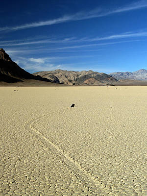 Dry Lake Racing Photograph - Death Valley National Park Playa Racing Rocks 31 by Jeff Brunton