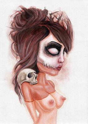 Deathlike Skull Impression Original by Rouble Rust