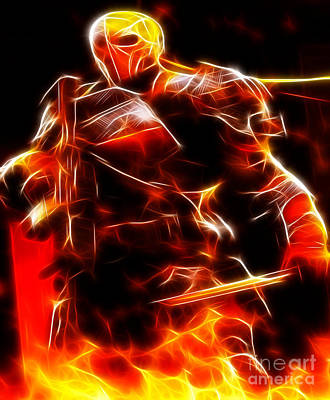 The Universe Mixed Media - Deathstroke The Terminator by Pamela Johnson